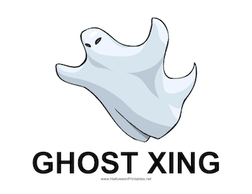 Ghost Xing Sign