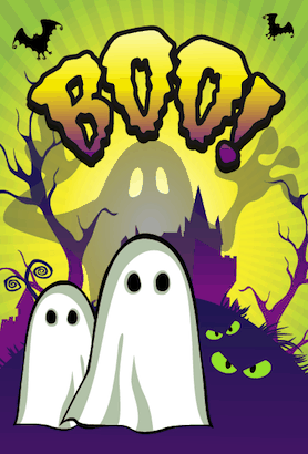 Halloween Boo Ghosts Card