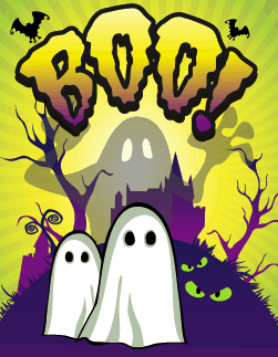 Halloween Boo Ghosts Small Card