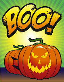 Halloween Boo Jack O Lantern Small Card