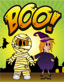 Halloween Boo Mummy Witch Small Card