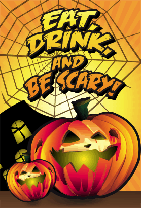 Halloween Eat Drink and be Scary Card