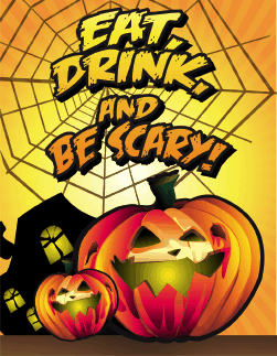 Halloween Eat Drink and be Scary Small Card