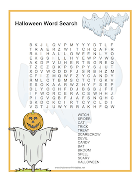 Halloween Ghost Word Search