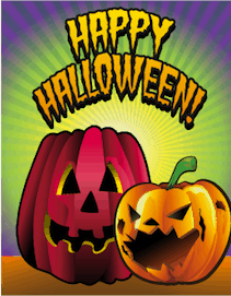 Halloween Jack O Lantern Small Card
