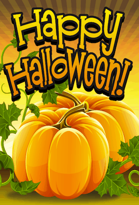 Halloween Orange Pumpkin Card
