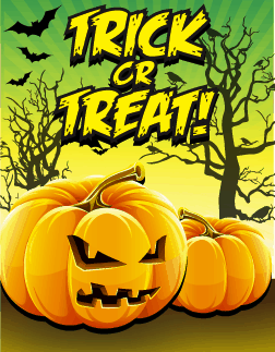 Halloween Orange Trick or Treat Small Card