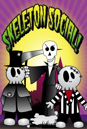 Halloween Skeleton Social Card