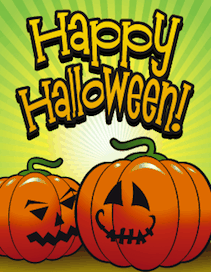Halloween Two Jack O Lanterns Small Card