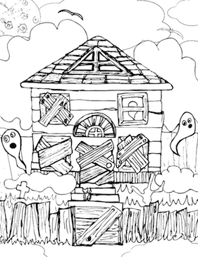 haunted_house_coloring_pagepng 20 awesome halloween coloring pages haunted house