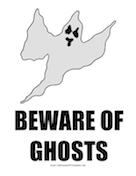 Beware of Ghosts Sign