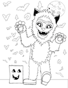 Boy In Costume Coloring Page