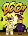 Boo Mummy Witch Small Card