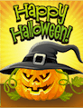 Jack O Lantern Witch Small Card