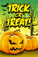 Orange Trick or Treat Card