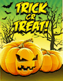 Orange Trick or Treat Small Card