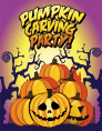 Halloween Pumpkin Carving Party Small Card Halloween printables