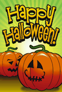 Two Jack O Lanterns Card