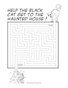 Haunted House Cat Maze