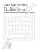 Haunted House Ghosts Maze