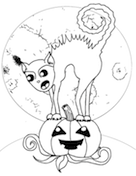 Scary Cat Coloring Page