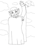 Vampire Coloring Page