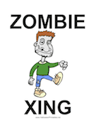Zombie Xing Sign